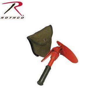 Rothco Orange Mini Pick & Shovel with Cover
